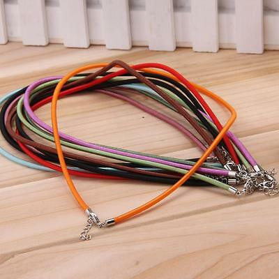 10 Metal Rubber Multi Color Necklace Chain Cords String for DIY