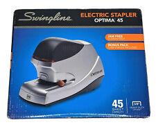 New Listingswingline Optima Electric Stapler Value Pack 45 Sheet Capacity Silver 48209