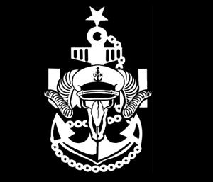 2 Navy Chief Crossbones skull Swords Vinyl Decal Stickers for Car /& Truck Anchor