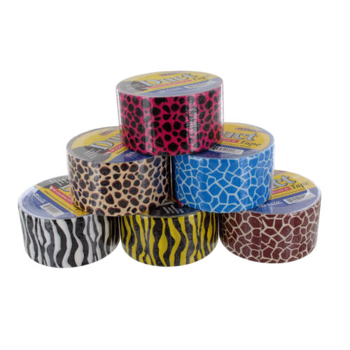 908-36 Each Bazic 1.88 X 5 Yards Safari Duct Tape Colors May Vary