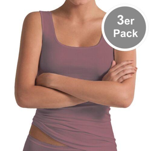 3erPack POMPADOUR Intime Damen Unterhemd Achselhemd Micro Modal viele Farben