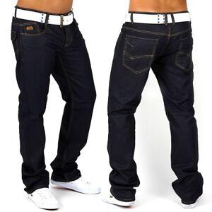 Herren-Jeans-Hose-schwarz-Denim-Destroid-Slim-Fit-Clubwear-G-Hot-Mister