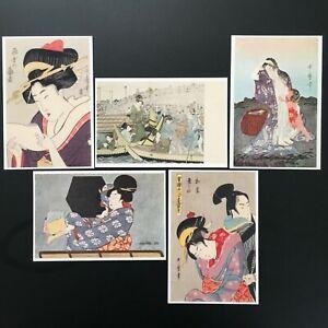 Ukiyo-e-Postcard-Kitagawa-Utamaro-5-pieces-set-Feel-free-to-enjoy-Japanese-art