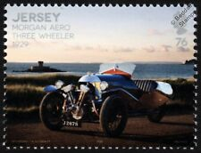 1929 MORGAN AERO (3-Wheeler) Super Sports Car Automobile Stamp (2016 Jersey)