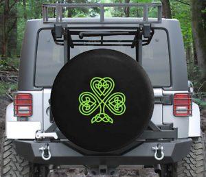 Spare Tire Cover Celtic Knot Shamrock Irish Heritage Wrangler RV