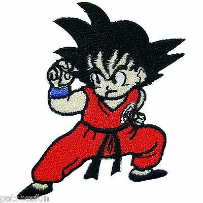 Cute Dragon Ball Z Goku Cartoon Children Star Kids Ninja Iron on Patches #1030