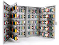 Wall Mount 400 Key Secure Storage Steel Locking Cabinet Key Organizer Safe Box