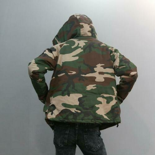 Winter Mens Camouflage Coats Warm Hooded Jackets Cotton Warm Military Outerwear