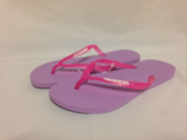 2ad146790aa56 Havaianas Slim Logo Pop-up Women US 9 Purple Flip Flop Sandal ...