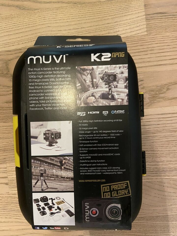 NY PRIS!!! Action kamera wifi, digitalt, Veho Muvi