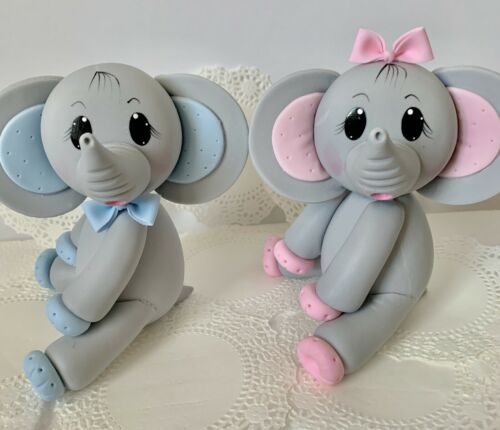Elephant  Cake Topper,Baby Shower.