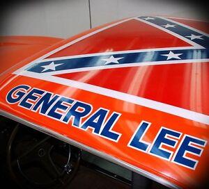 General Lee Replica Decal Sticker Dukes Of Hazzard Vehicle