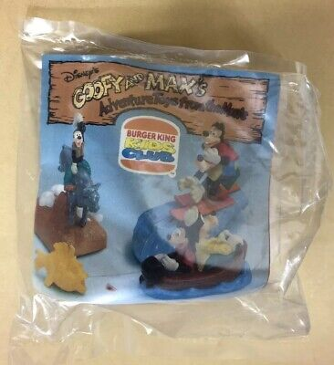 Burger King Kids Meal Disneys Goofy and Max Adventure Toy Goofy on Bull Wind Up