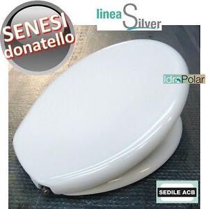 Ceramiche Senesi Donatello.Dettagli Su Nuovo Sedile Wc Donatello Senesi Ideal Standard Termoindurente Acb Ercos Silver