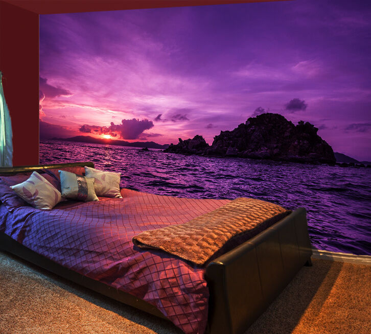 3D Pretty Sea Sunset 1375 Paper Wall Print Wall Decal Wall Deco Indoor Murals