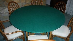 """elastic Original Poker Felt Casino Style Round Tablecloth cover for 60/"""" table"""