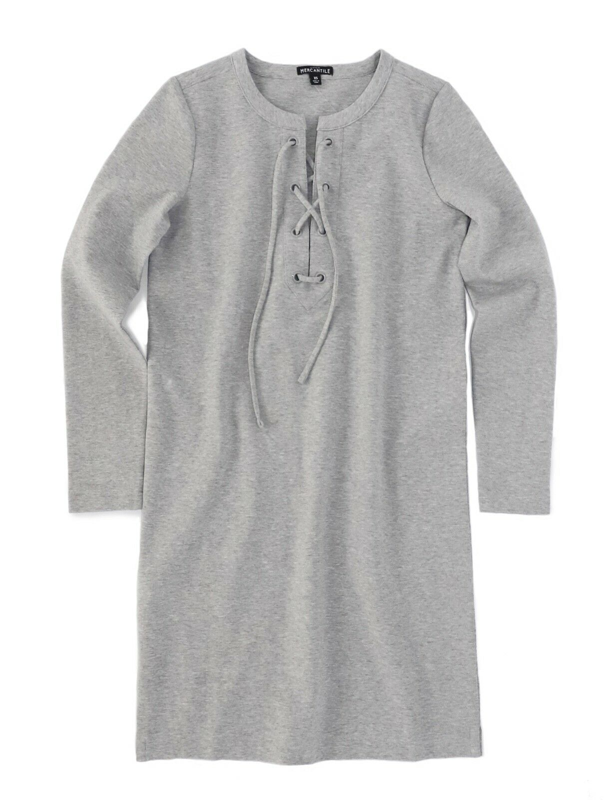 J.Crew Fabrik DAMEN L - Nwt   79 - Grau Melliert Langärmeliges Sweatshirt Kleid