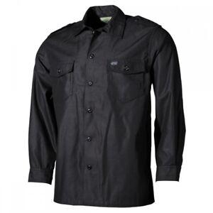 free shipping 1f547 ad713 Details zu US Hemd langarm schwarz Herrenhemd Männer Army Freizeithemd  Herren Shirt NEU