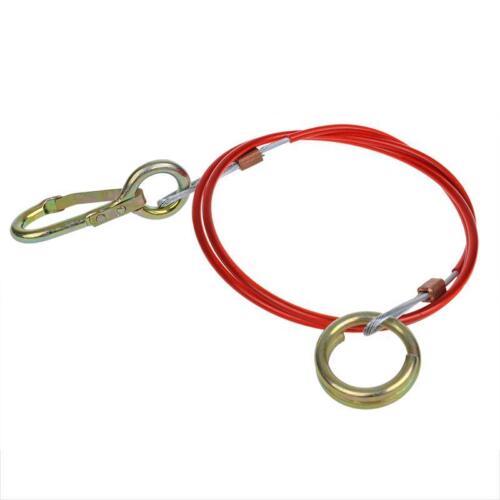 cuerda de seguridad arranque Cable para Colgante 1,5 m con mosquetón y anillo