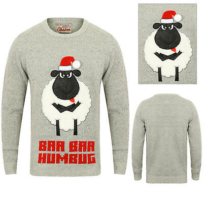 Gut Ausgebildete Adults Festive Novelty Baa Baa Humbug Christmas Jumpers Mens Womens Xmas Sweater