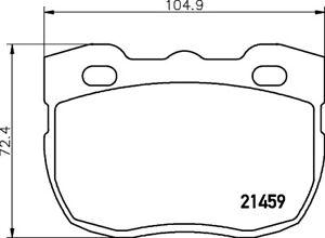 Mintex-Front-Brake-Pad-Set-MLB115-BRAND-NEW-GENUINE-5-YEAR-WARRANTY