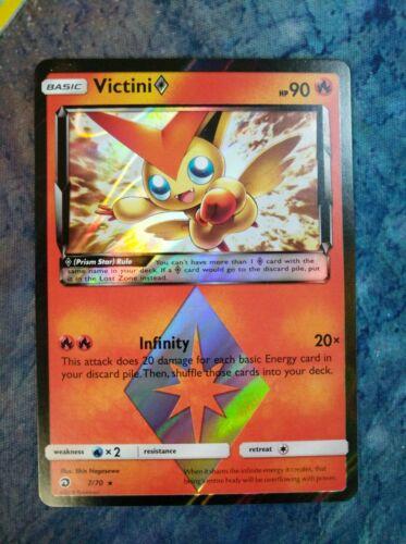 Pokemon Card NM Holo Rare VictiniPrism Star 7//70 Dragon Majesty