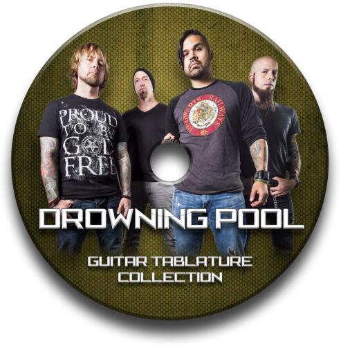 DROWNING POOL HEAVY METAL ROCK GUITAR TAB TABLATURE SONG BOOK SOFTWARE CD
