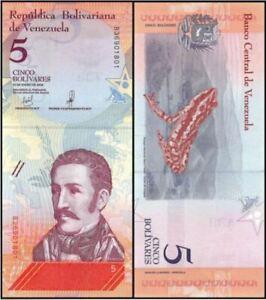 Venezuela 5 Bolivares 15/1/2018 (Gem UNC) 全新 委内瑞拉 5玻利瓦尔 (OFFER) #3