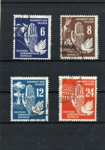 DDR-Francobolli-di-insieme-di-pace-1950-PUNZONATO