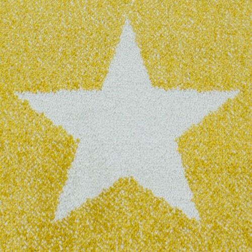 Kids Star Rug Yellow Grey Baby Nursery Play Carpet Childrens Bedroom Floor Mats