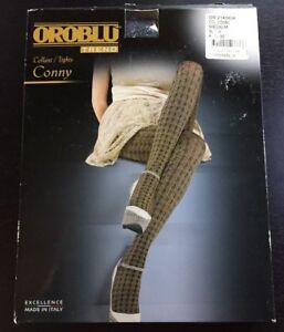 OROBLU-Trend-Collant-Tights-Conny-Strumpfhose-schwarz-Muster-M-neu