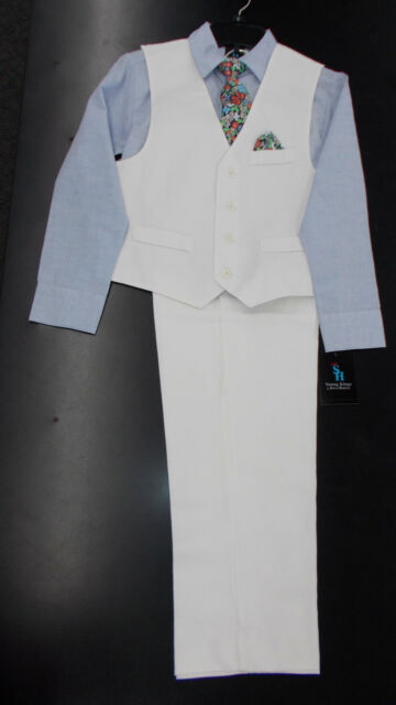 Boys Young Kings by Steve Harvey $80 5pc Black /& White Plaid Suit Size 5-7