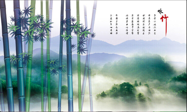 3D Bambus Bambus Bambus Nebelhafte Berge 73 Tapete Wandgemälde Tapete Tapeten Bild Familie DE | Kompletter Spezifikationsbereich  a0b20d