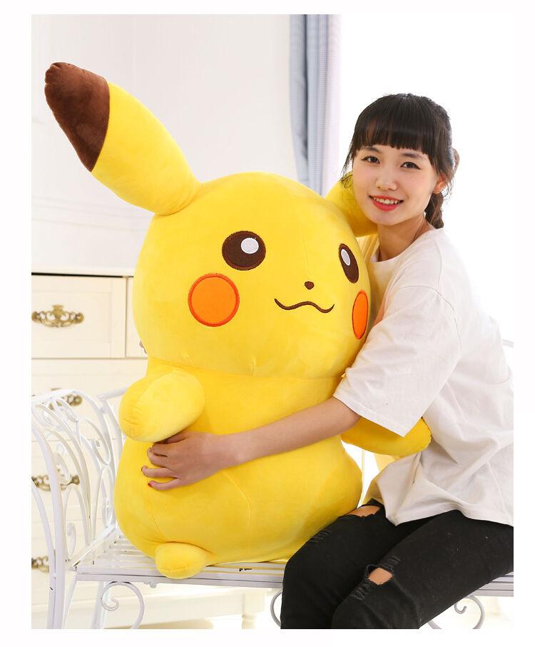 Giant Large Cartoon Go Pikachu Soft Stuffed Plush Figure Toy Kids Christmas Gift