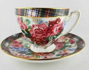 "Ralph Lauren HAMPTON FLORAL 3"" Footed Cup and Saucer, 9 Available"