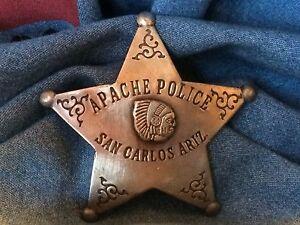 Nice Old West Badge 'Apache Police ' - * western * cowboy * novelty*