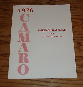 1976 Chevrolet Camaro Wiring Diagram Manual for Complete ...