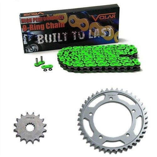 Volar O-Ring Chain and Sprocket Kit Green 1997-1998 Triumph Speed Triple T509