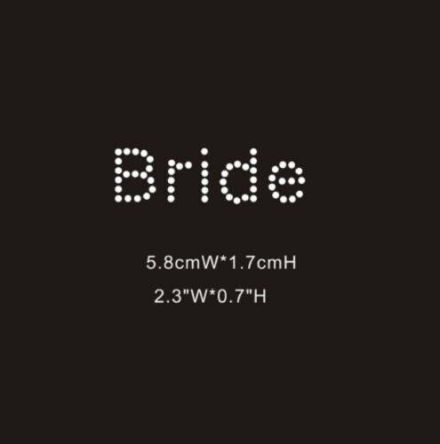 Bride Small Diamante Rhinestone Iron On Transfers