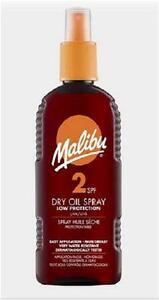 2-X-200ml-Malibu-Suntan-Lotion-Dry-Oil-Spray-Water-Ressistant-Choose-SPF