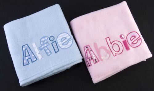Couverture Personnalisé Bébé Fille Garçon Baptême Cadeau Nouveau bébé tout nom