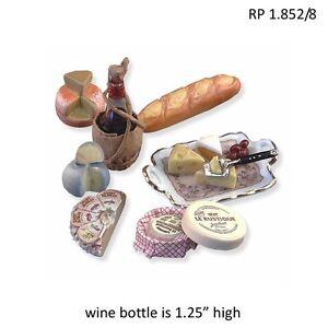 Paris Style Wine & Cheese Set 1:12 Scale REUTTER PORCELAIN