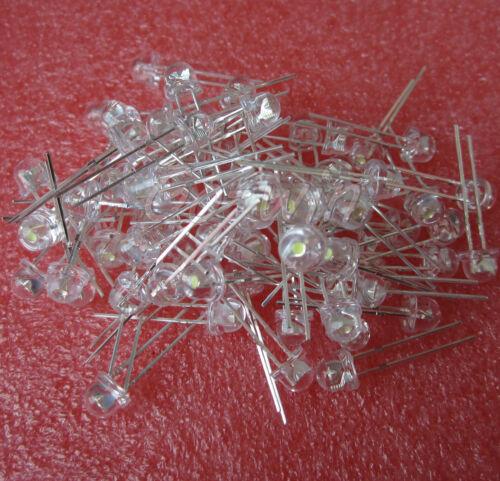 1000pcs F5 5mm WHITE Straw Hat Superbright LED Light LED lamp