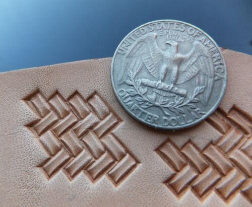 013-08 MICRO Braid QUADRATIC Stamp BRASS leather Tool Saddlery Punch 3D