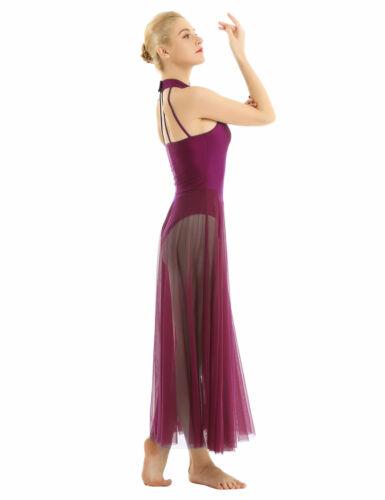 Women Sleeveless Leotard Bodysuit Ballet Dance Dress Liturgical Praise Dancewear