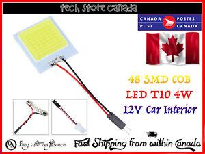 NEW-White-48-SMD-COB-LED-T10-4W-12V-Car-Interior-Panel-Light-Dome-Lamp-Bulb