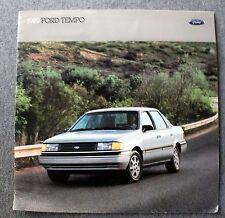 1989 FORD TEMPO Sales Brochure PROMOTIONAL Automobile AUTO Motor Company FMC Car
