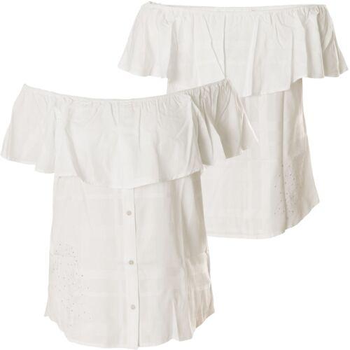 Shirt Shoulder Bianco Affliction Ladies Sydney Off TqqYxw