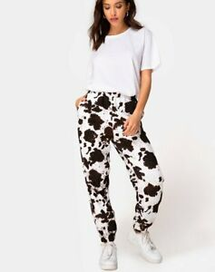 MOTEL-ROCKS-Basta-Jogger-in-Cow-Hide-Brown-White-L-Large-mr92