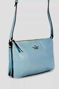 Kate-Spade-Handbag-Blue-Leather-Shoulder-Bag-Crossbody-Purse